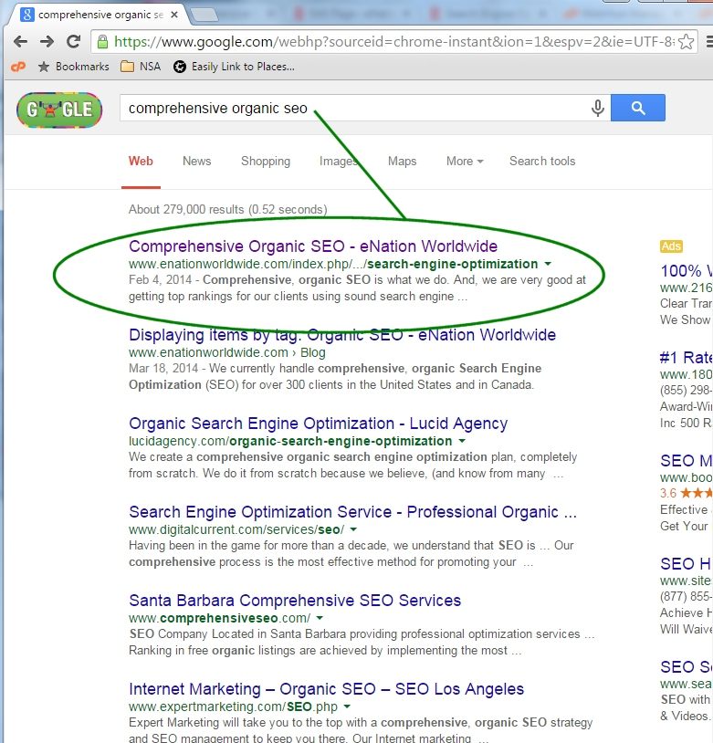 Comprehensive Organic SEO